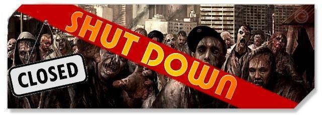 World of the Living Dead - logo - Shut down - F2P & Family