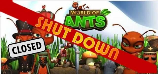 World of Ants - logo640 shut down