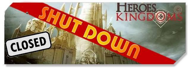 Might and Magic Heroes Kingdoms - Shutdown logo - F2P Network