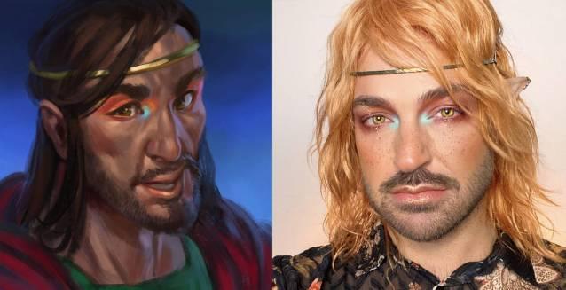Elvenar Hallowenn MAC cosmetics Avatar Angelo Human